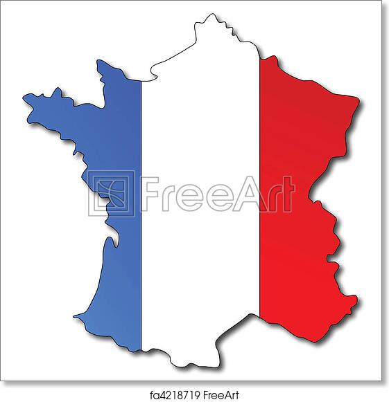 Map Of France To Print.Free Art Print Of French Flag On A Map Of France