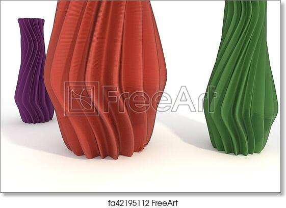 Free Art Print Of Printed Object Vase 3d Illustration Isolated