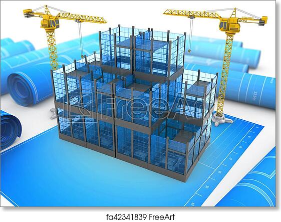 photo relating to Free Printable 3d Buildings known as Totally free artwork print of 3d gl designing