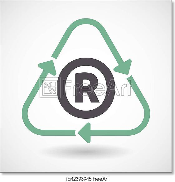 image about Recycle Sign Printable called Absolutely free artwork print of Isolated recycle indicator with the registered trademark emblem