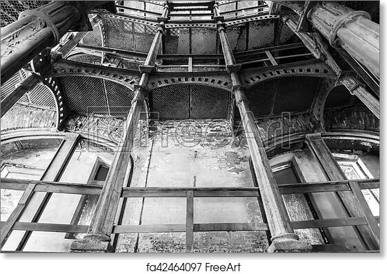 Free Art Print Of Cast Iron Circular Staircase In Fort Alexander Chumnoy