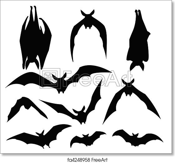 photograph regarding Free Printable Forest Animal Silhouettes titled Totally free artwork print of Bats silhouette