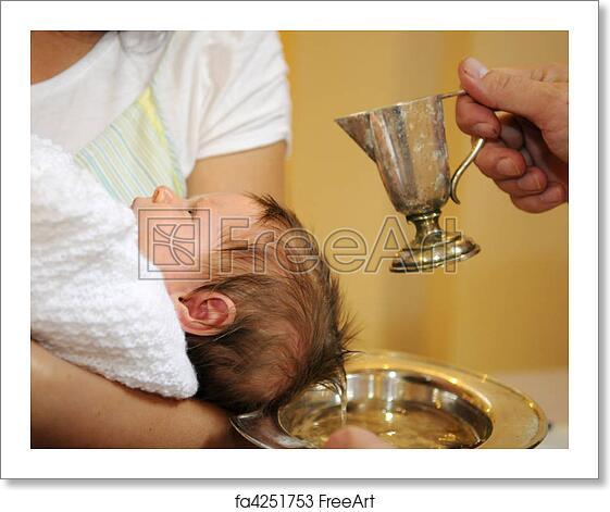 Free art print of The baptism