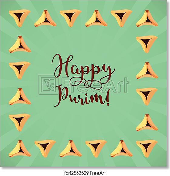 Free art print of jewish holiday of purim greeting card jewish free art print of jewish holiday of purim greeting card m4hsunfo