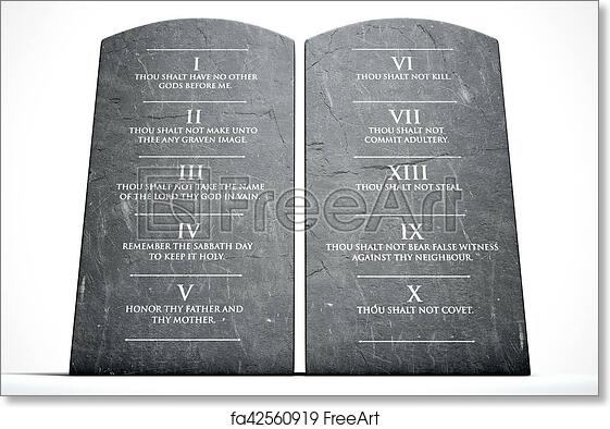 image relating to Printable Ten Commandments Tablets named Totally free artwork print of 10 Commandments