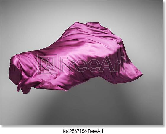Free art print of Purple flying fabric