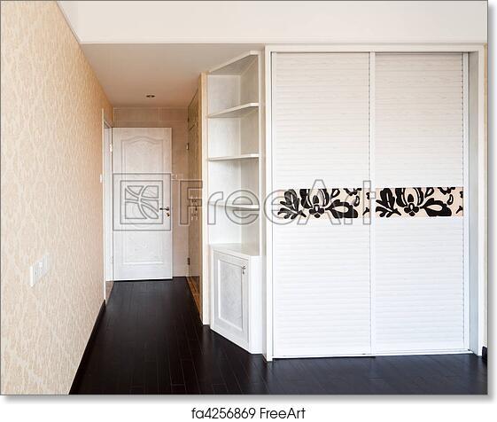 Free Art Print Of Empty Bedroom With Doorway And Cabinet Empty