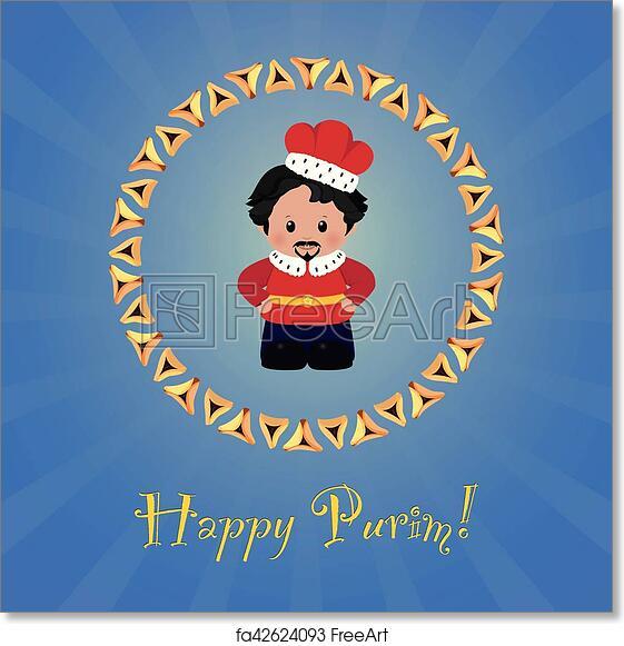 Free art print of jewish holiday of purim greeting card with free art print of jewish holiday of purim greeting card with achashverosh m4hsunfo