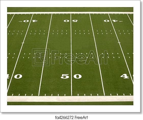 Kids Childrens Football Field 100 X 133cm: Free Art Print Of Empty American Football Field. Empty