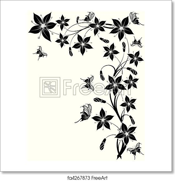 Free Art Print Of Flower Background Flower Background With