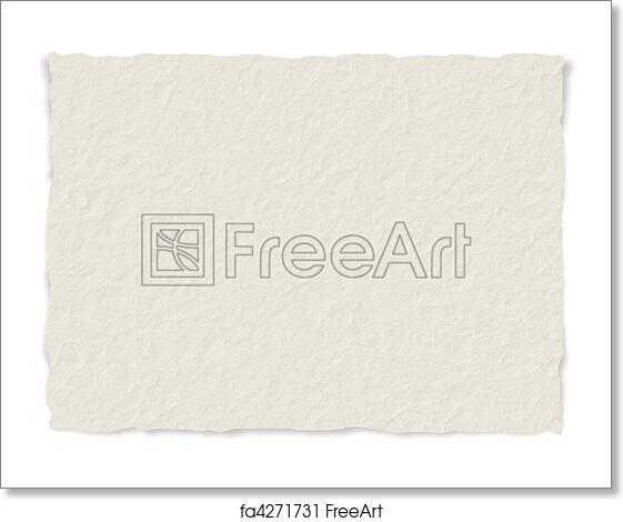 free art print of paper texture frayed edges