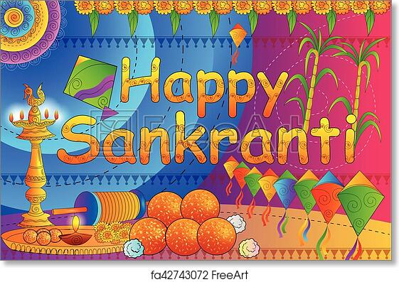 Free Art Print Of Happy Makar Sankranti Festival Celebration Background