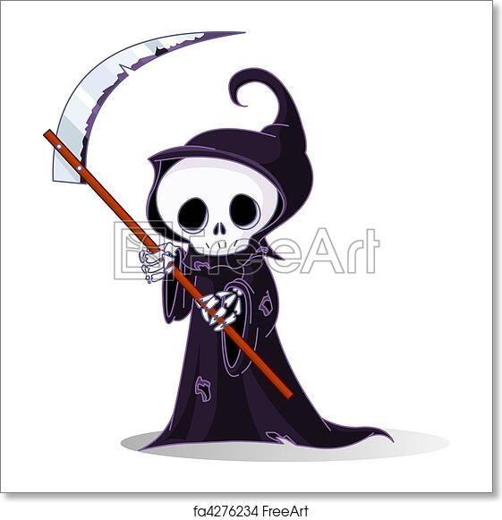 Free art print of Cartoon grim reaper