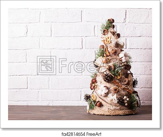 Christmas Topiary.Free Art Print Of Rustic Christmas Topiary