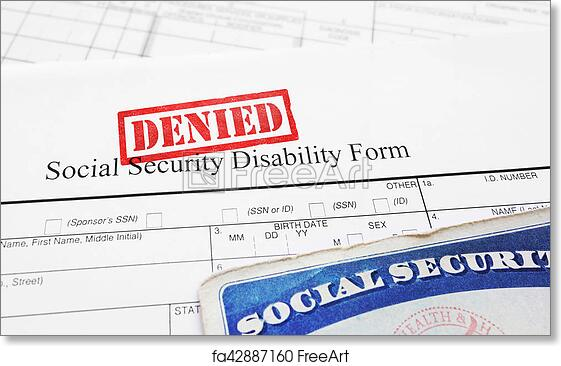 graphic regarding Printable Social Security Disability Forms called No cost artwork print of Denied Social Stability disability software