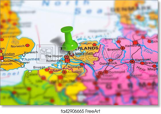 photograph about Printable Map of Amsterdam identified as Free of charge artwork print of Amsterdam Netherlands map