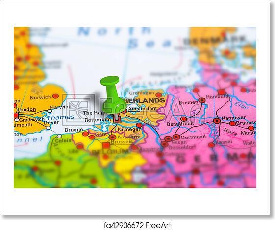 Free Art Print Of Rotterdam Netherlands Map Rotterdam In