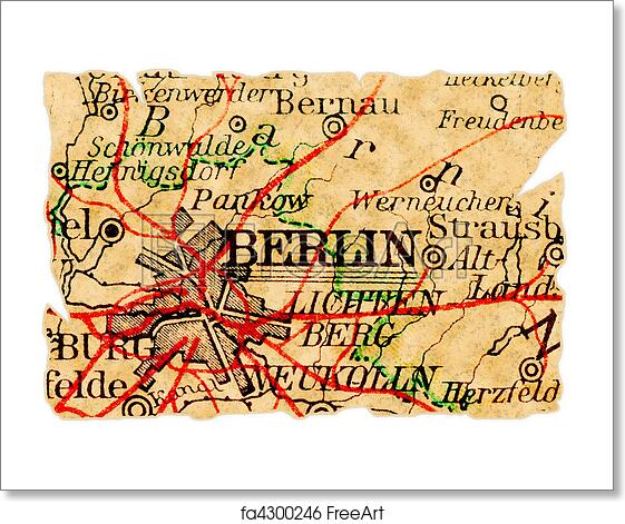 Map Of Old Germany.Free Art Print Of Berlin Old Map Berlin Germany On An Old Torn Map