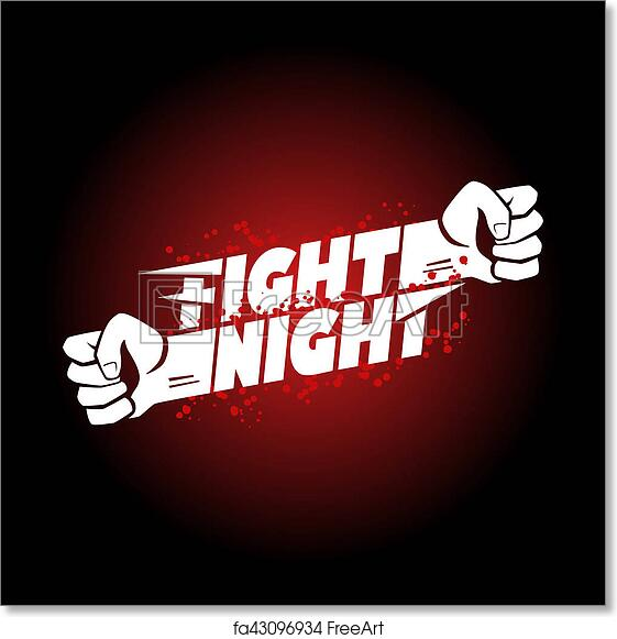 image relating to Printable Wrestling Belt Template called Totally free artwork print of Combat night time mma, wrestling, fist boxing championship for the belt function poster symbol template with lettering.