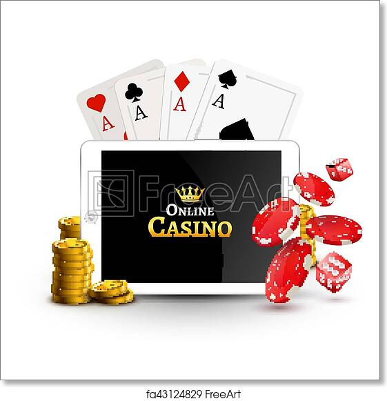 free art print of online casino design poster banner tablet with