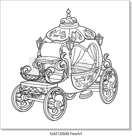 Cinderella Carriage Coloring Page Birthday Coloring Page Carriage ... | 581x561