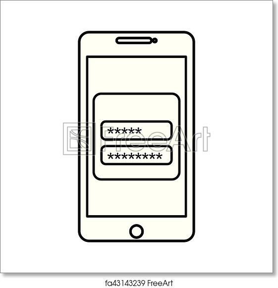 Free art print of Login and password icon