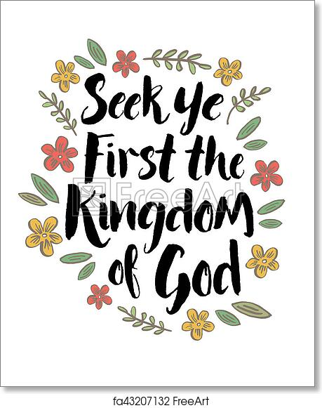 graphic about Free Printable Scripture Word Art referred to as Free of charge artwork print of Seek out Ye To start with the Kingdom of God
