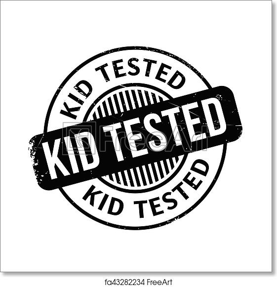 Free Art Print Of Kid Tested Rubber Stamp