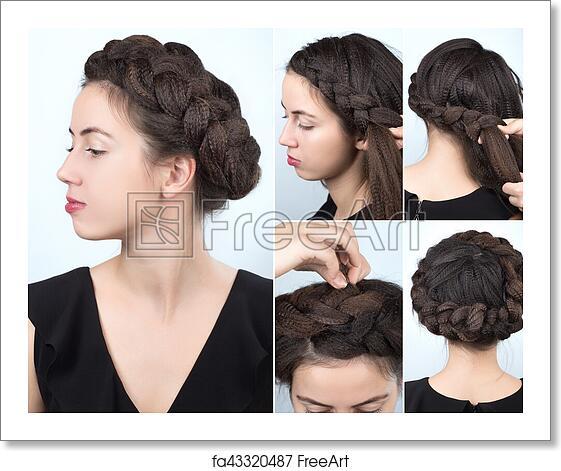 Free art print of Fashionable braid hairstyle tutorial
