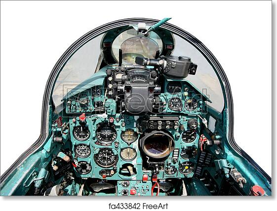 Free art print of Cockpit mig21