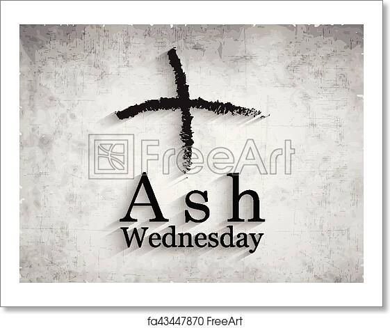 free art print of ash wednesday background illustration of cross
