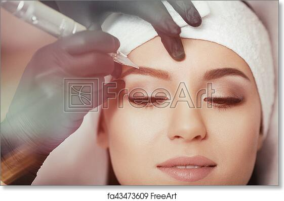 Free art print of Permanent makeup. Tattooing of eyebrows. Permanent ...