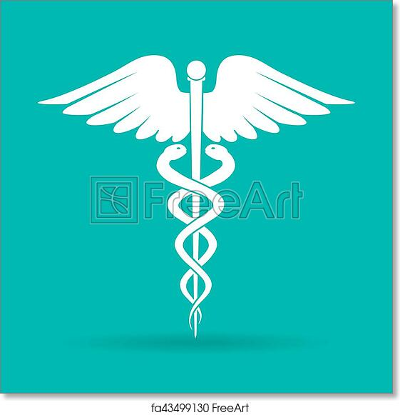 Free Art Print Of Caduceus Medical Symbol Emblem For Drugstore Or