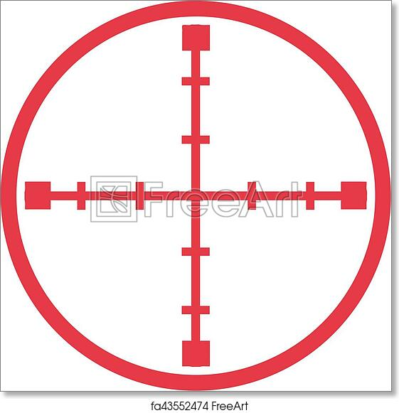 photograph regarding Printable Sniper Targets named Absolutely free artwork print of Sniper emphasis crosshair