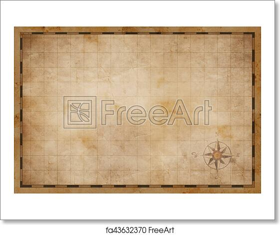 Free Art Print Of Old Blank Map Background