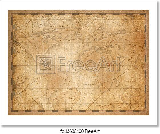 Free Art Print Of Old World Map Background Old Nautical Vintage