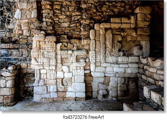 Free art print of Ancient Mayan wall decorations in Ek Balam ...