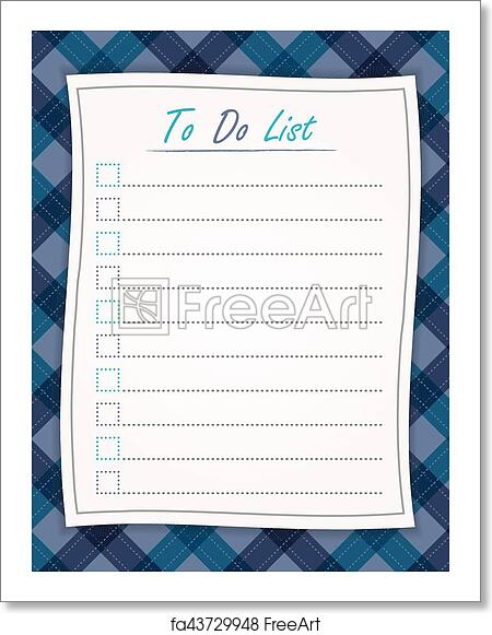 free art print of to do list paper on the tablecloth background