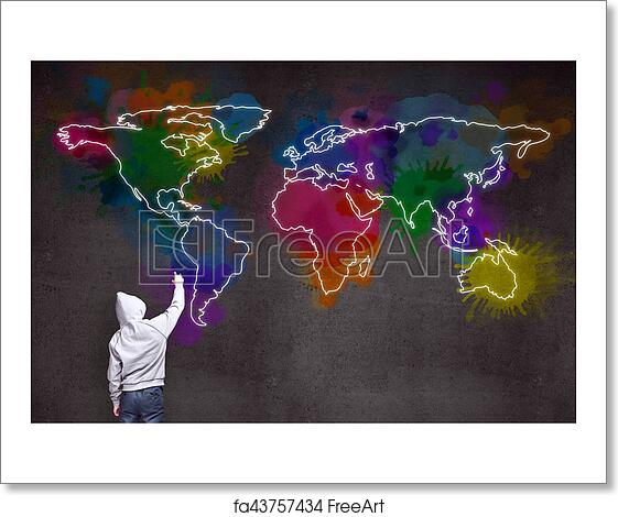 Free art print of businessman drawing world map businessman drawing free art print of businessman drawing world map gumiabroncs Images