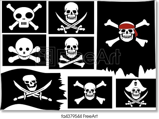 picture about Pirate Flag Printable called Cost-free artwork print of Skull and crossbones. Pirate flags