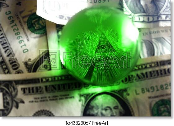 Free Art Print Of Usd Dollar Bill Eye Pyramid Eye Of Providence All