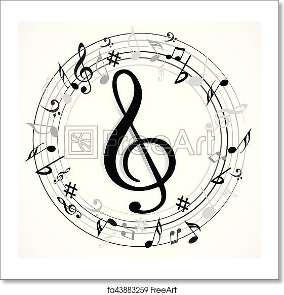 Free Art Print Of Music Note Music Note With Different Music