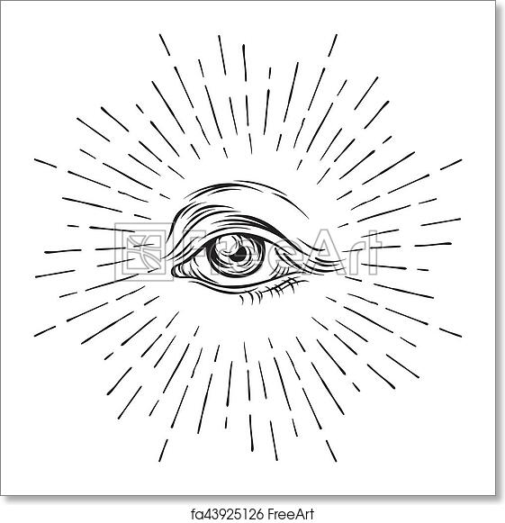 Free Art Print Of Hand Drawn Grunge Sketch Eye Of Providence