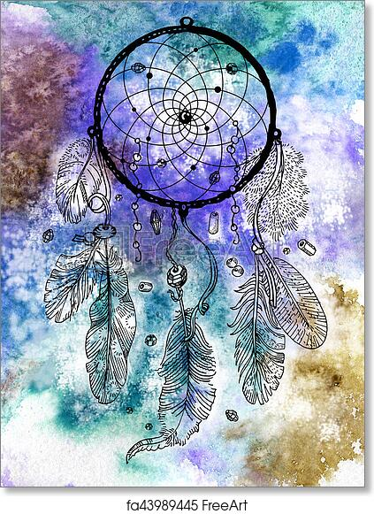 graphic regarding Legend of the Dreamcatcher Printable named Absolutely free artwork print of Drawing of Dreamcatcher