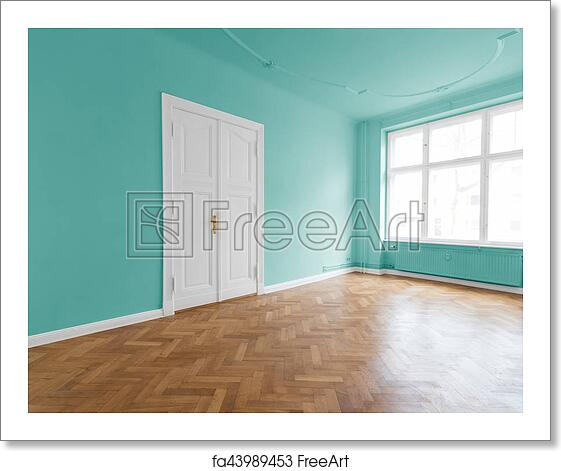 Free art print of Apartment with mint green walls