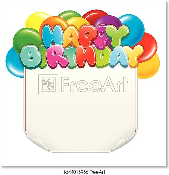 Free Art Print Of Happy Birthday Vector Happy Birthday Banner