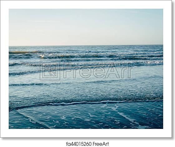 Free art print of Waves in the Atlantic Ocean, in Folly Beach, South  Carolina