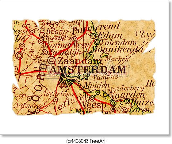 Free Art Print Of Amsterdam Old Map Amsterdam The Netherlands On - Amsterdam old map