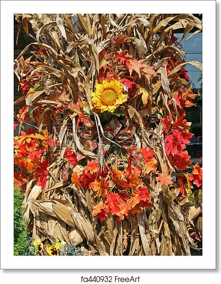 Free Art Print Of Autumn Decoration Autumn Decoration Dried Corn