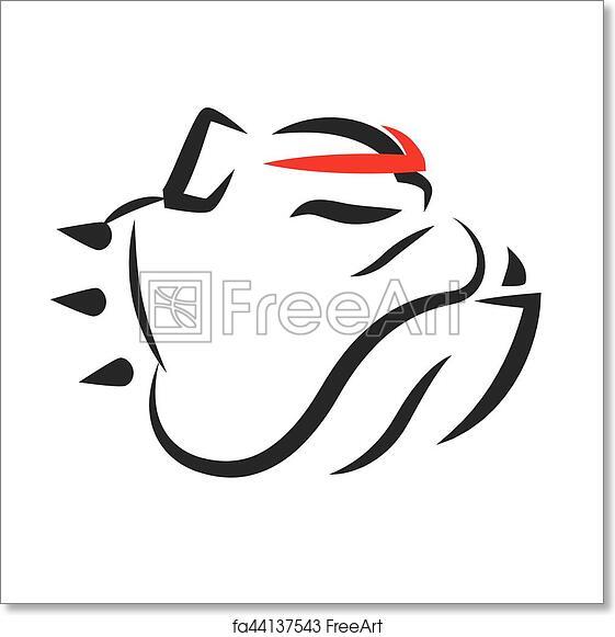 Free art print of Bulldog Portrait Vector Mascot